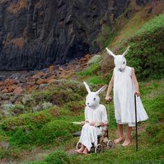 bad rabbit, polixeni papapetrou, anthropomorph, art, mask