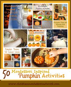 50 Montessori Inspired Pumpkin Activities - www.christianmontessorinetwork.com