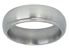 Satin Finish 7mm Band in Titanium