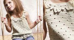 Le #débardeur #crochet #fantaisie #fillette