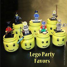 Baby food jars turned into Lego storage heads!