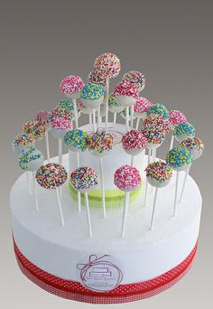 Cute cake pops and stand