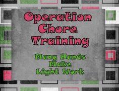 chore chart, kid train, organ kid, famili, chore method, children, child life, chore instructions, busi homeschool
