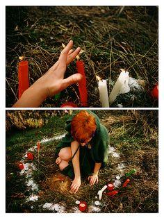 Witch pagan circle ritual