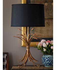 Gold Wheat Sheaf Table Lamp
