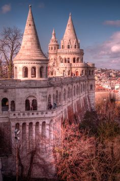 Fisherman's Bastion, Budapest. For impressive views across the Danube to Pest. This neo-Gothic construction was built in 1905 by the architect Frigyes Schulek. It is composed by seven towers that are symbolizing the seven magyar clans' leaders that came in the Carpathian Basin at the end of the IX century.