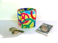 Kids Secret Stash Money Cuff  NEW PRINT Rainbow by bluepiedesigns, $10.00