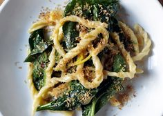 // Strozzapreti with Spinach and Preserved Lemon