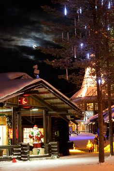 Santa Claus Village at the Arctic Circle in Rovaniemi, Lapland - Finland.. This is as real as it gets... take your kids to the north pole to go see santa. Everything about lapland is story book whimsical and magical. Definitely on the start planning list!!