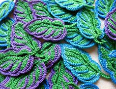 Irish Crochet Leaves