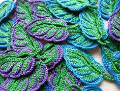Irish Crochet Leaves