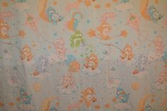 Vintage Care Bears Full Flat Bed Sheet by RetroActivDiva on Etsy, $15.00