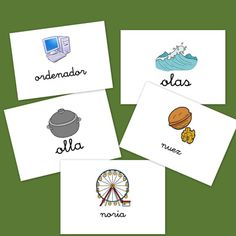 Bits de imágenes para vocabulario. Letras N y O