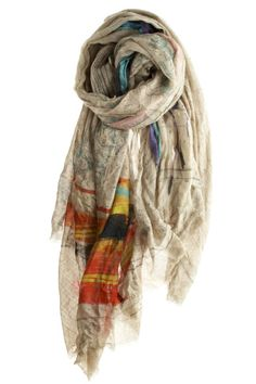 Bonny Map Scarf :: SCARVES :: SHOES & ACCESSORIES :: Calypso St. Barth