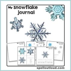 Free printable snowflake journal plus snow activities from @maureenspell