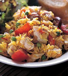 spanish night, thing spanish, spanish food, foods, spici turkey, tofu, meat, turkey paella