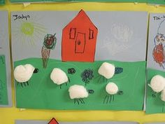 Farm theme.  Sheep farm craft.