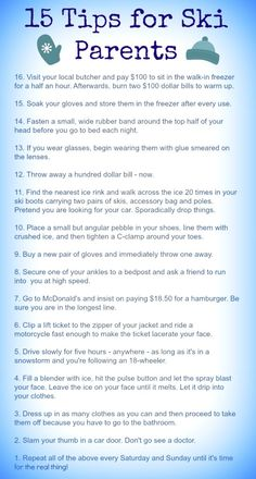 Ski Mom tips for sur
