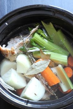 Turkey Stock Recipe | Good Cheap Eats - this is the best way to get something from nothing. Delicious homemade stock cooks in the slow cooker while you sleep!