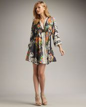 Johnny Was Collection Silk Floral Print Dress #Plus #Size #fashion
