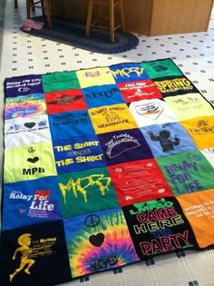 T-Shirt Quilt... for all my race shirts!