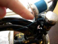 Willcox & Gibbs Chain Stitch Sewing Machine- Threading, Treadle Brake & ...