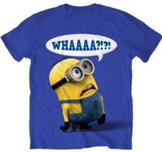 Amazon.com: Despicable Me Whaaa Minion T-shirt: Clothing