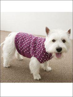 Beaded Dog Sweater / crochet Pattern