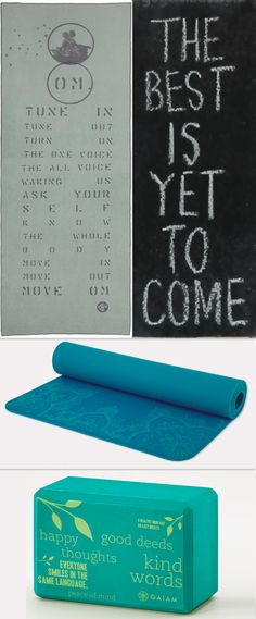 Yoga gear to inspire you to get on your mat and stay tuned in to your practice. #yoga