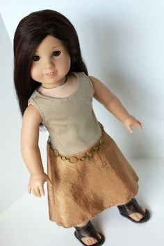 American Girl Clothing  Basic High Low Dress and by ShimmerMyst, $12.95 chain belt, american girl