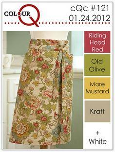Riding Hood Red, Olive, Mustard, Crumb Cake, White