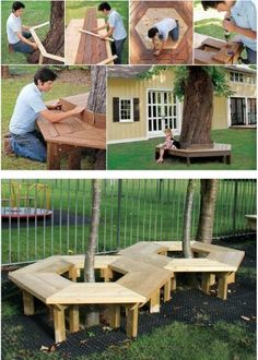 Add A Tree Bench - 150 Remarkable Projects and Ideas to Improve Your Home's Curb Appeal