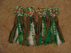 Corsages for Girl Scout World Thinking Day for the girls to pin their SWAPS on.