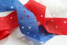 What a fun idea to use Star Paper Punches on crepe paper streamers when decorating for the 4th of July!