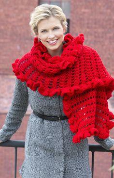 Ruffled Wrap - free crochet pattern!  :)