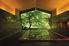 Soak in Japan ~ http://nyti.ms/X9cJ2U @The New York Times @Teanna Painter spa #spa #onsen Hoshino Resort