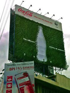 billboard absorbs air pollution.