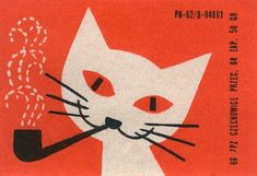 Vintage Czech matchbox labels are an absolute goldmine of inspiration for mid-century modern style illustration!