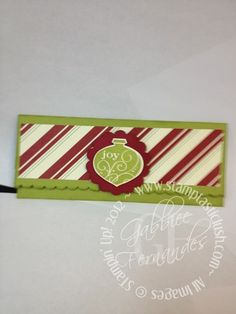 Stampin Up! Christmas Gift Card Wallet