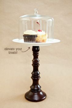 Look For Less: Anthro Cupcake Stand DIY