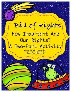 This is a fun, unique way for students to learn about the Bill of Rights. In the first part of this activity, students work in cooperative groups to read about, discuss, and determine the rights that are most important to them. The rights are written in kid-friendly language. The second part of this activity is a mini-book that students will create.