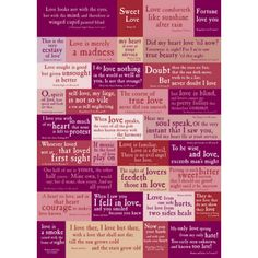 Shakespeare´s love quotes