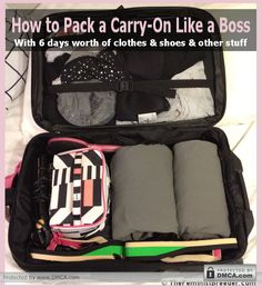 How To Pack a Carry-On Like a Boss-6 days in a carry-on