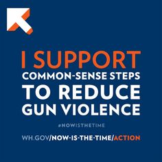 I support common-sense steps to reduce gun violence