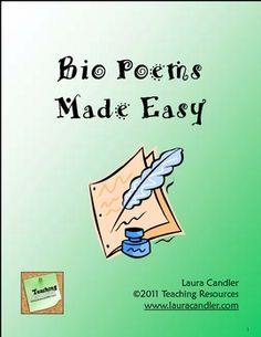 Step-by-step directions for how to teach students to write a bio poem