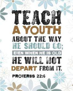 HomeLife Magazine — Printable Scripture Word Art: Proverbs 22:6
