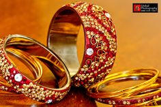 red and gold bangles!