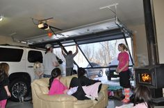 It can be cold outside but with a Lifestyle garage door screen from Cool Screens Texas you can enjoy a fun day in your own party room. coolscreenstexas@hotmail.com
