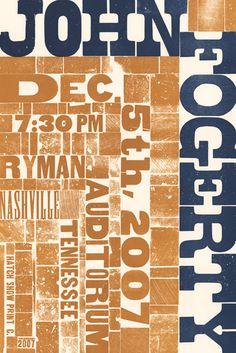 John Fogerty concert poster_letterpress