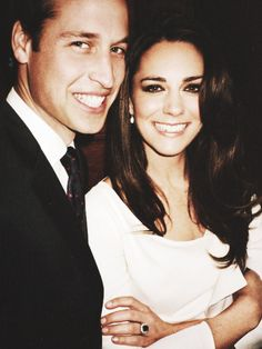 Prince William and his bride -to be Catherine Middleton in one of their unofficial photographs before their wedding, that took place on Friday 29th of April 2011